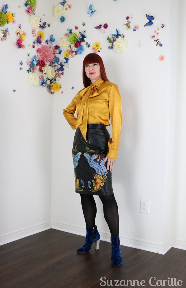 how to wear embroidered leather suzanne carillo