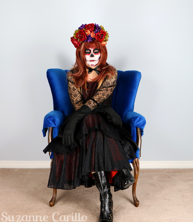 vintage day of the dead costume idea suzanne carillo
