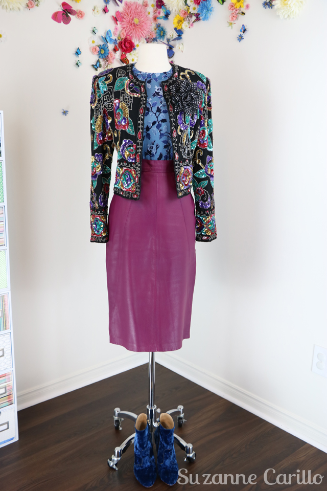 10 ways to style a sequinned vintage jacket sm