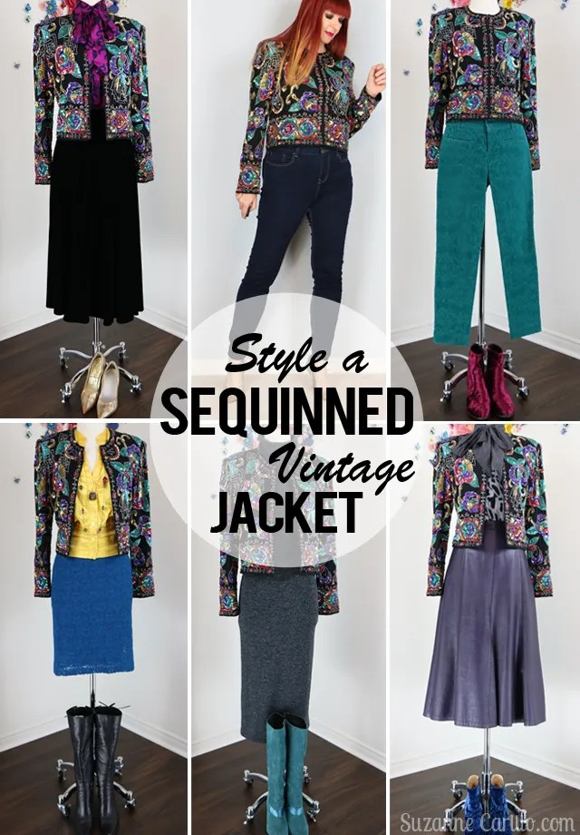 10 ways to style a sequinned vintage jacket