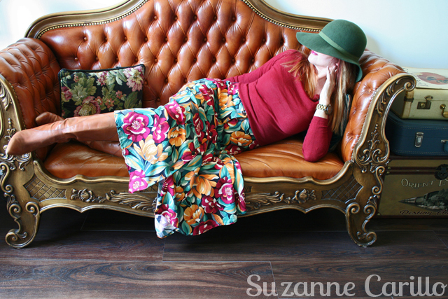 How to style a vintage skirt. For sale 1980s vintage floral midi skirt for sale vintagebysuzanne 640