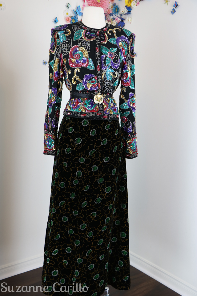 ideas to style a vintage sequinned jacket sm