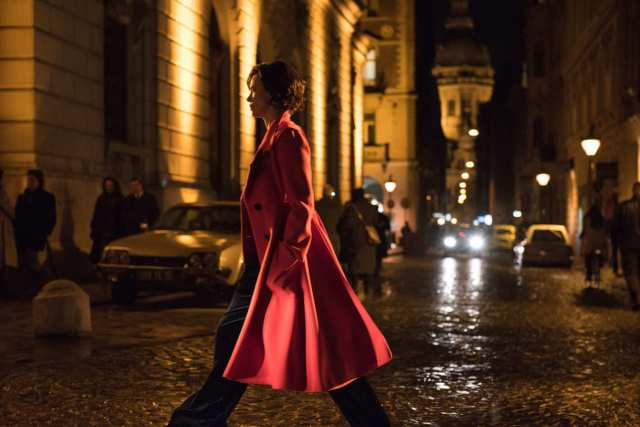 red dior coat atomic blond