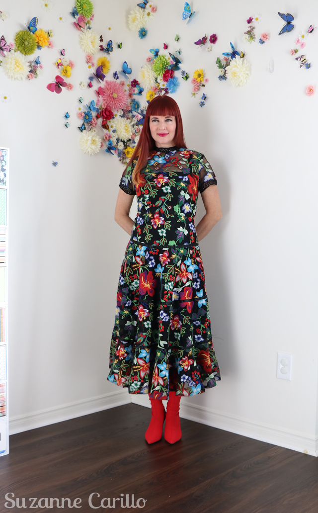Janine Embroidered Midi Dress Anthropologie Suzanne Carillo