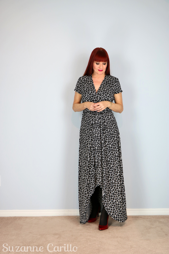black white animal print leopard dress michael kors for sale