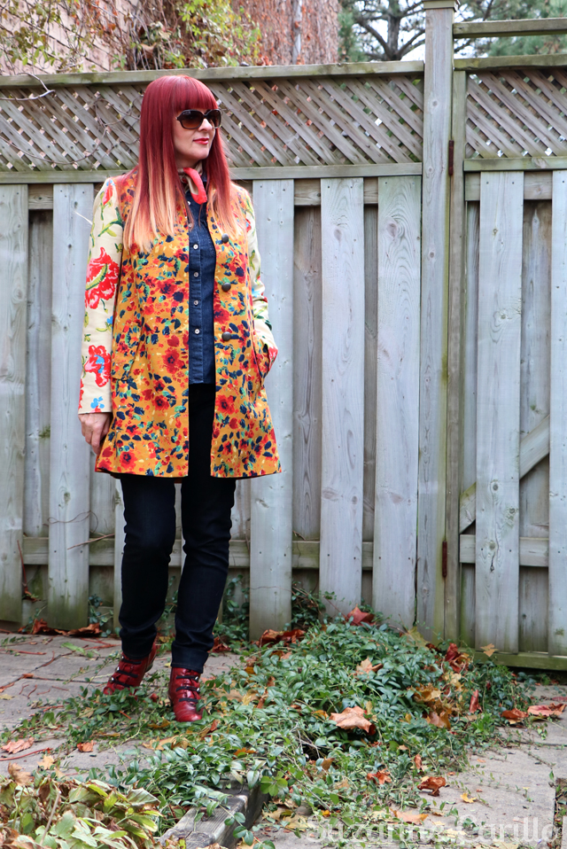 Winning statement coat style. Anthropologie leopardlily coat suzanne carillo style over 40