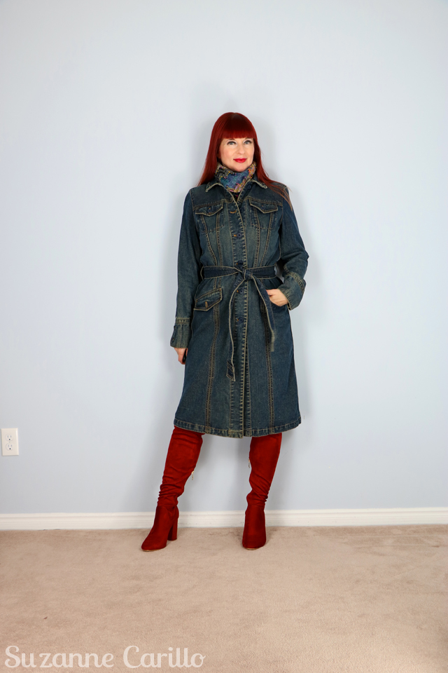 how to style a jean trench coat suzanne carillo
