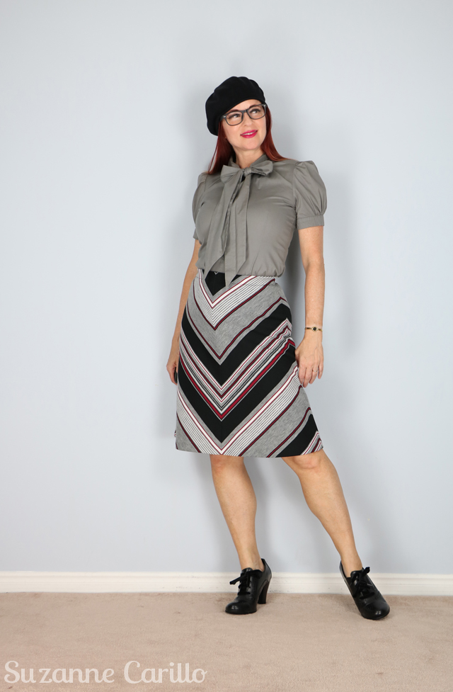 chevron aline vintage skirt for sale suzanne carillo