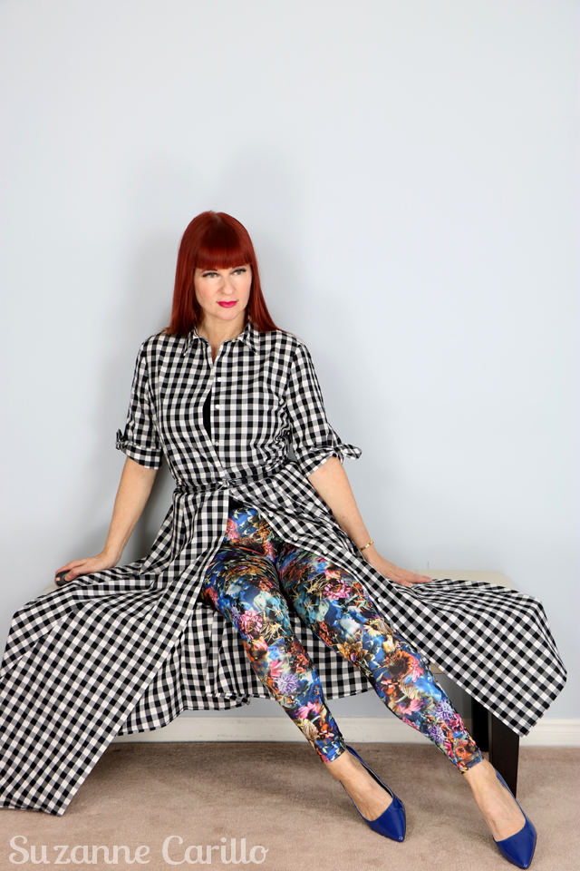 how to style a gingham dress with patterned tights suzanne carillo