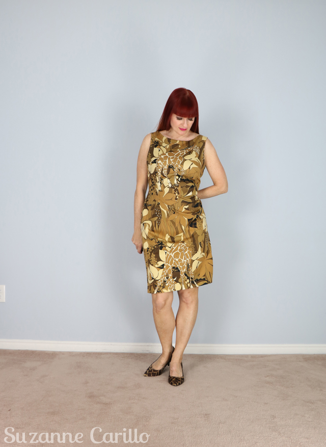 jungle safari print dress suzanne carillo