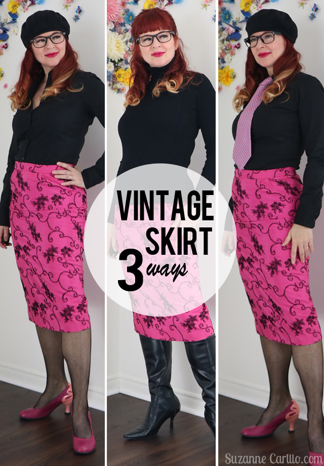 Style a Vintage pencil skirt three ways. Style a vintage pencil skirt three ways suzanne carillo style over 50
