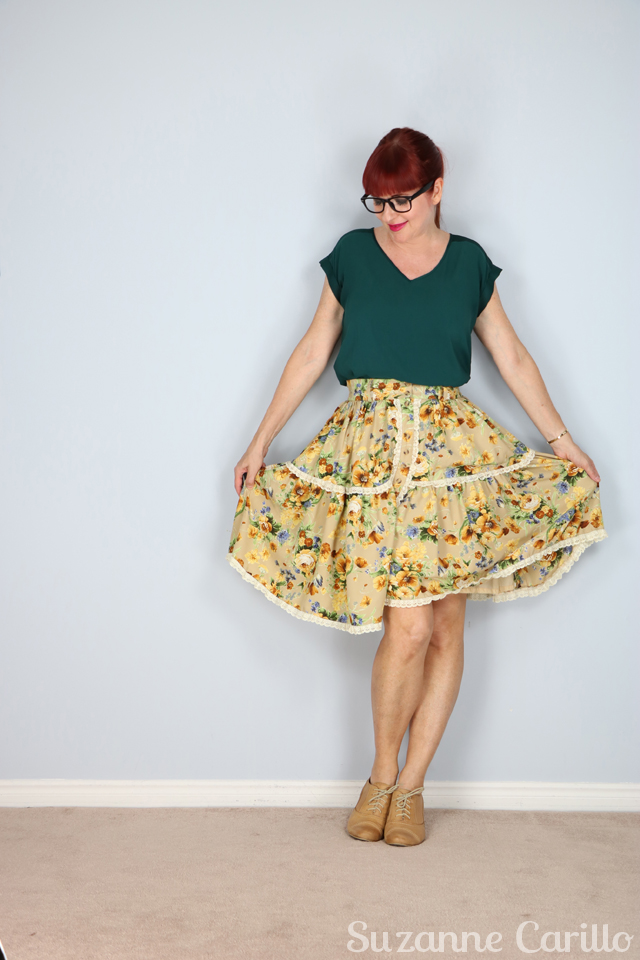 full circle floral skirt for sale buy now online suzanne carillo
