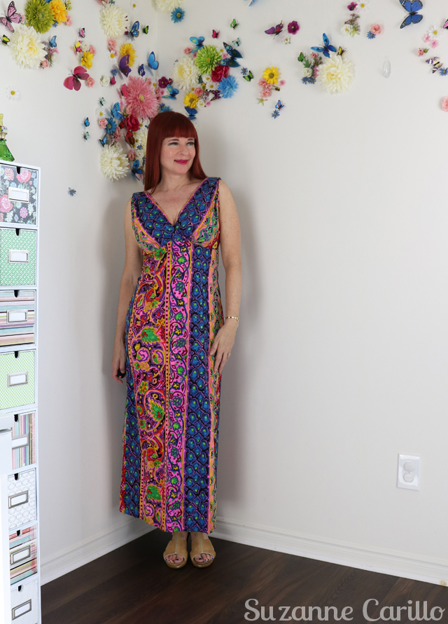 vintage hawaiian maxi dress style over 50 suzanne carillo
