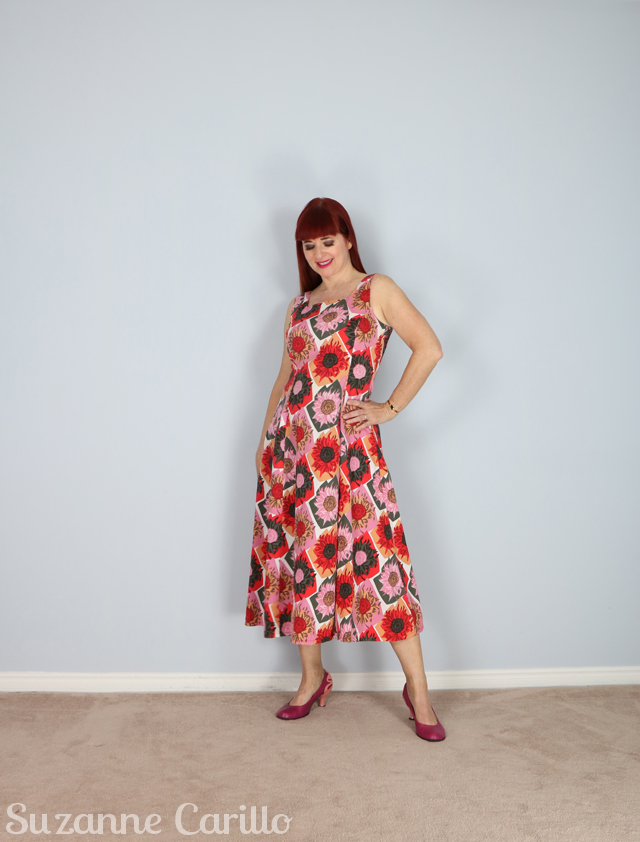 vintage sunflower dress suzanne carillo style