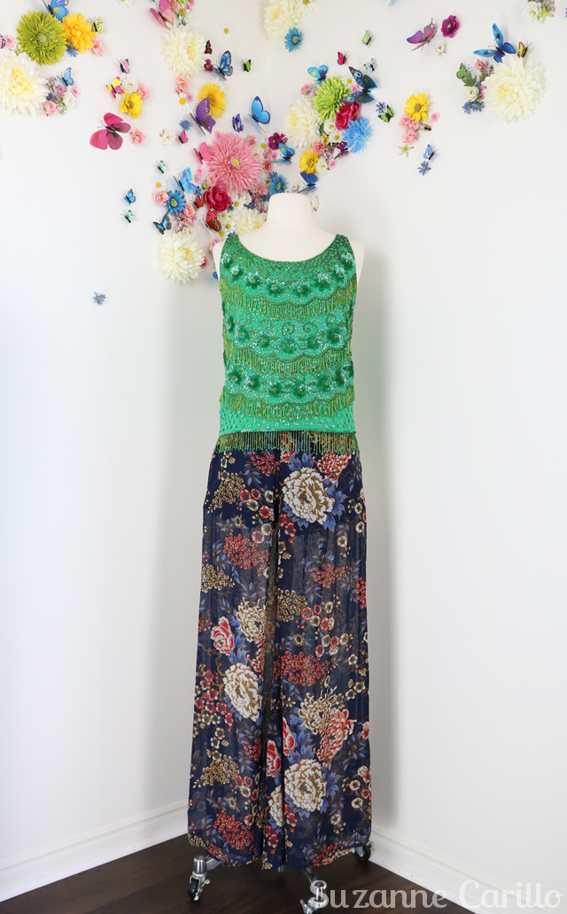how to style a vintage beaded top suzanne carillo