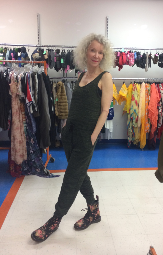 patti in jumpsuit talize shopping
