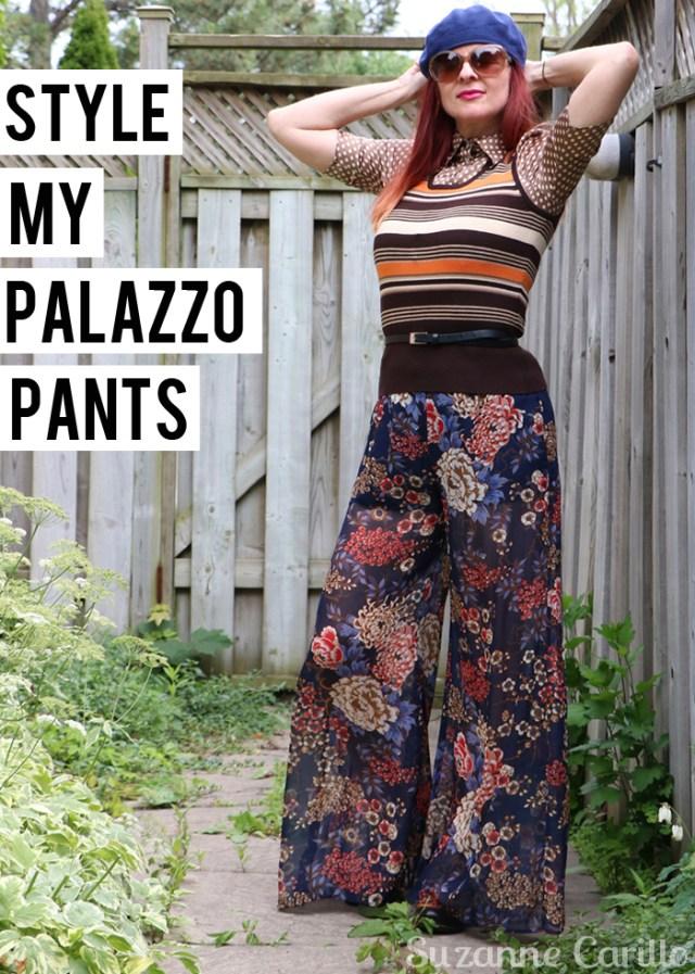 style my palazzo pants