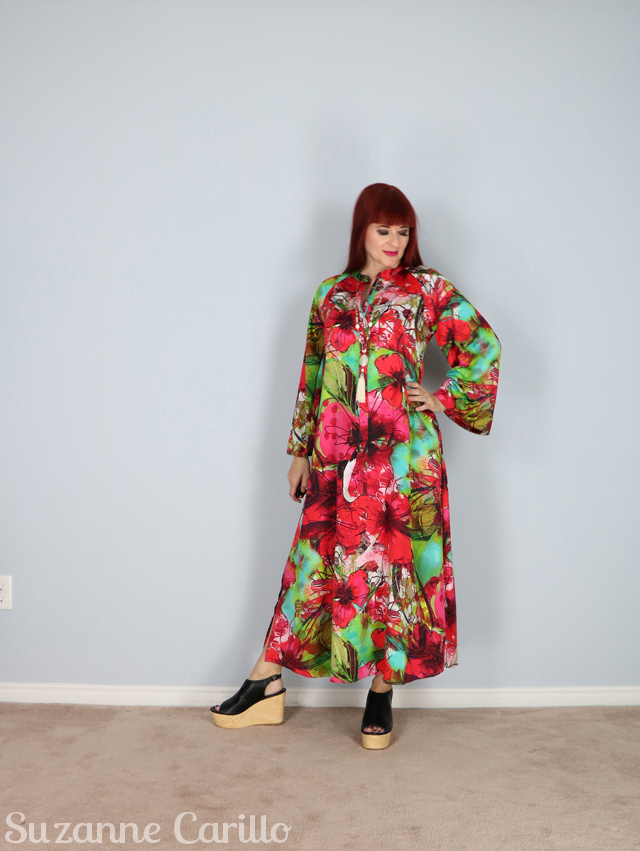 floral kaftan bold style over 50 suzanne carillo