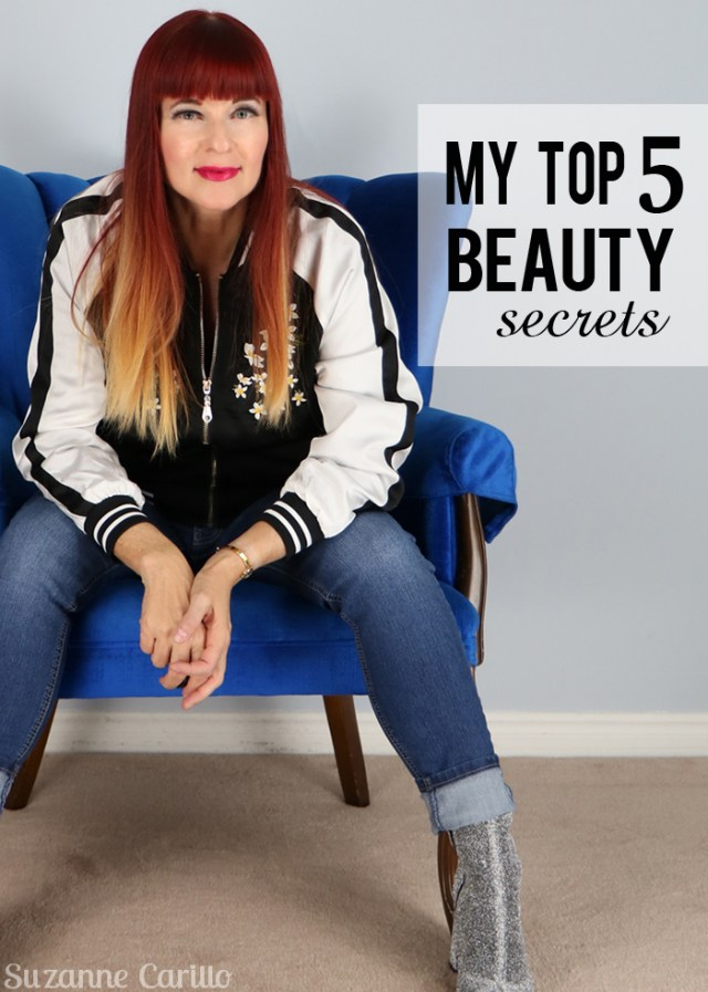 my top five beauty secrets suzanne carillo over 50 style blogger