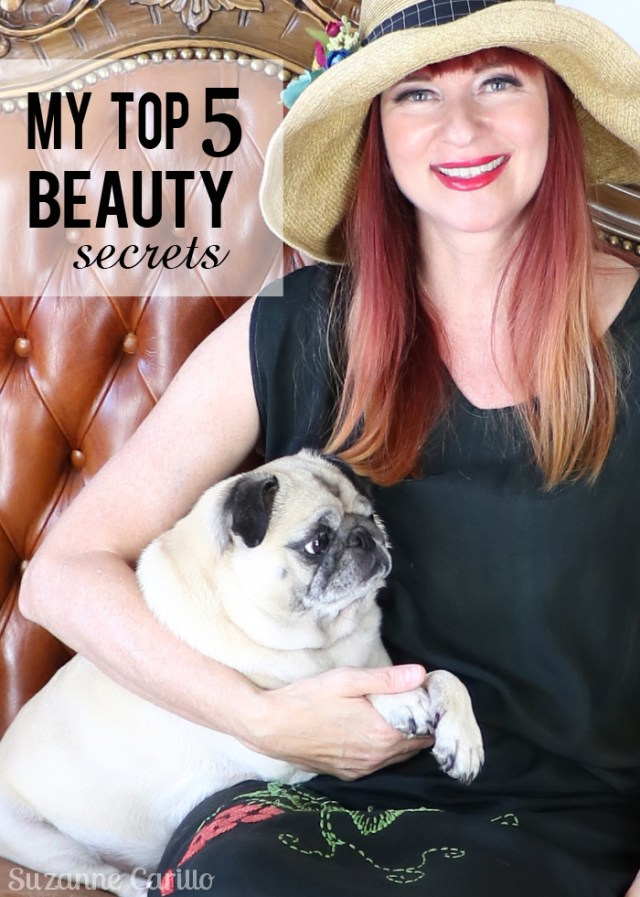 my top five beauty secrets suzanne carillo over 50 style