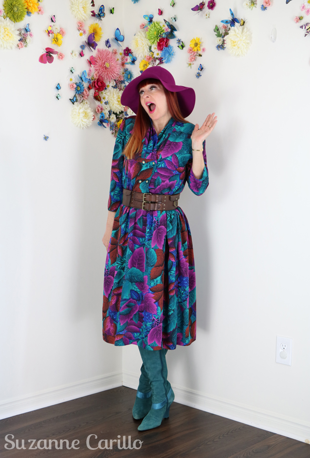 I'm not here to promote consumption. 1980s vintage floral dress for sale suzanne carillo