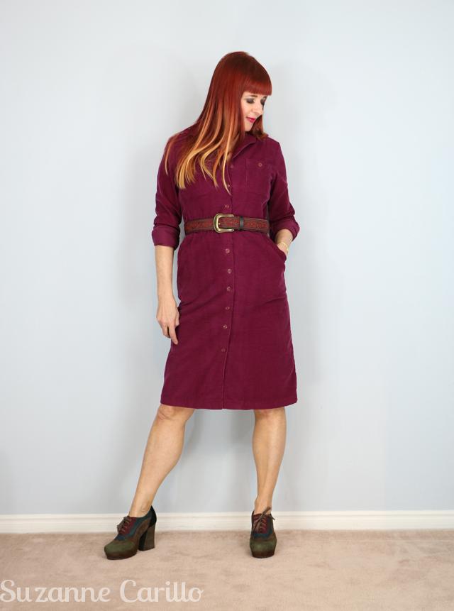 1980s vintage corduroy dress for sale
