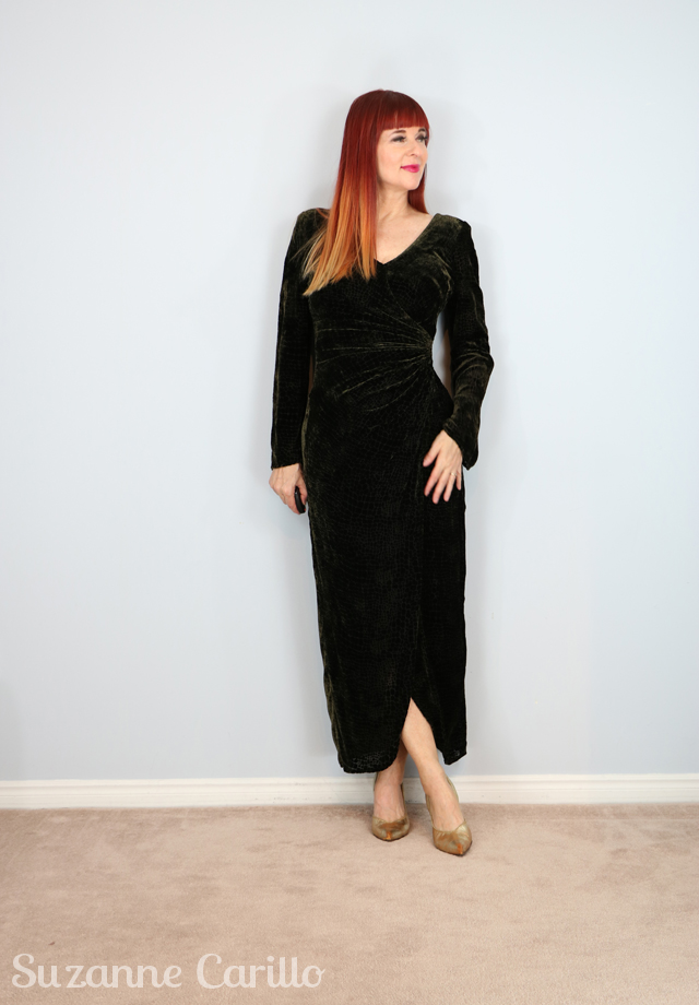 sexy velvet vintage dress for sale suzanne carillo