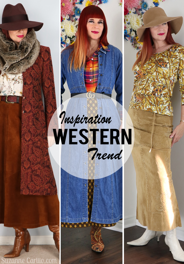 western trend inspiration with layered denim dress