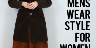 vintage menswear style for women suzanne carillo