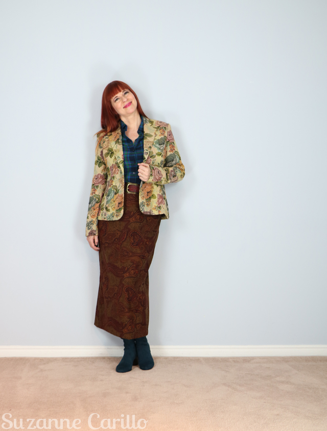 how to wear three different prints together suzanne carillo style over 40
