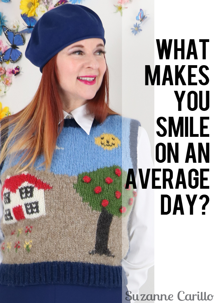What makes you smile on an average day? Adventurous style for the uncommon woman over 40.