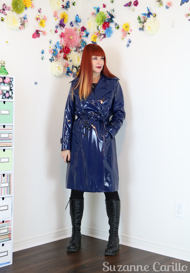 Is dark lipstick aging? latex raincoat style over 50 suzanne carillo