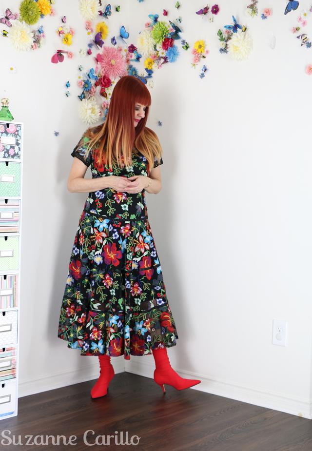 anthropologie garden embroidered dress suzanne carillo style