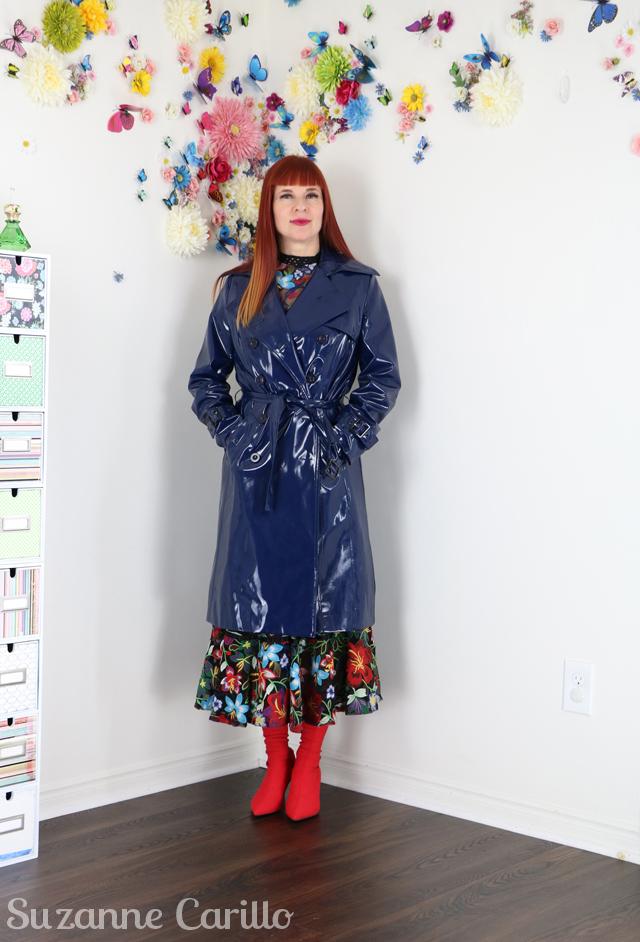 vinyl raincoat suzanne carillo style