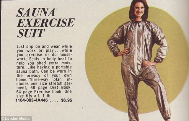 vintage sauna exercise suit