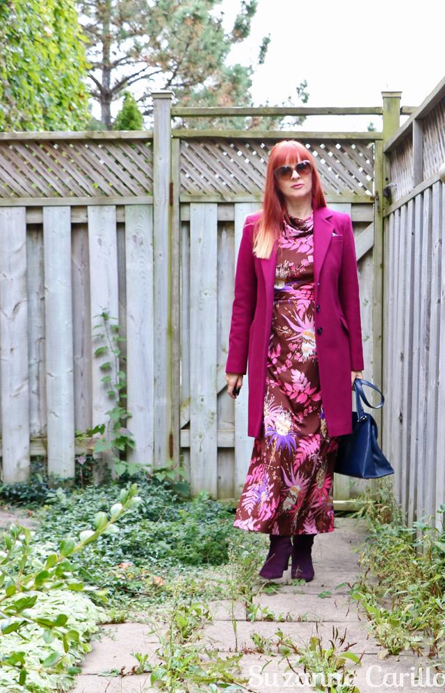 vintage maxi dress georges besson Paris Suzanne Carillo