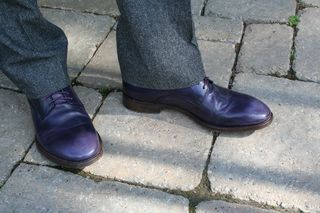 Eggplant shoes