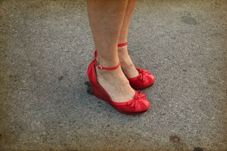 Red shoes anthropologie