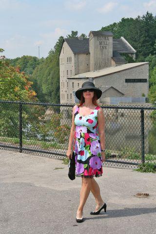 Elora mill bright floral dress