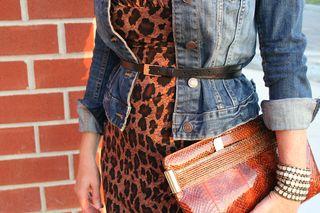 Belt and vintage clutch