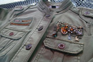 Altered army jacket with medals