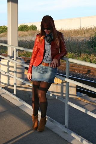 Danier rust leather jacket