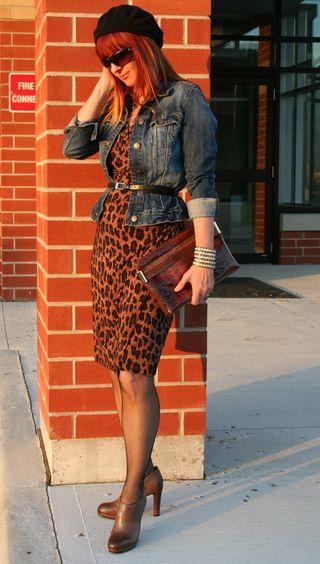 Ralph lauren leopard dress