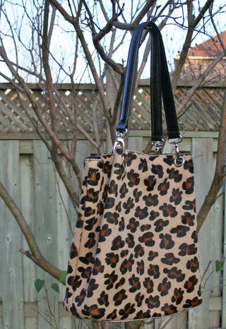 Oversized leopard handbag