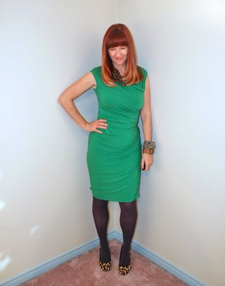 Green fitted anthropologie dress