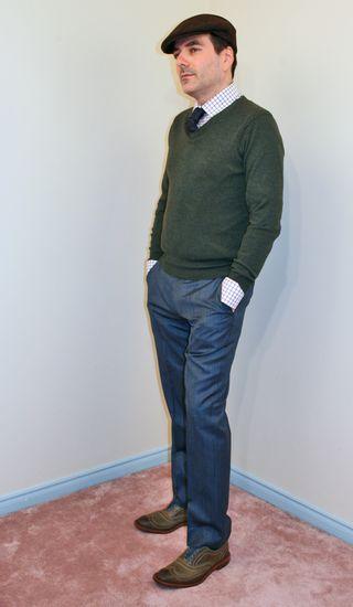 Blue pin stripe pants