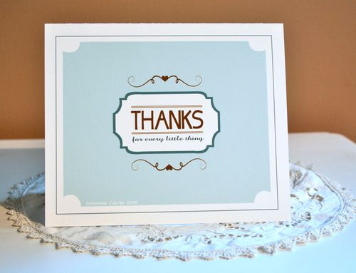 Thanks free printable thank you card