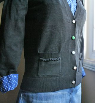 Pocket trim and buttons