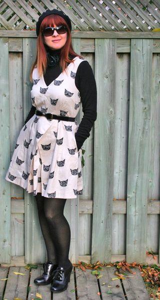 Black cat anthropologie dress