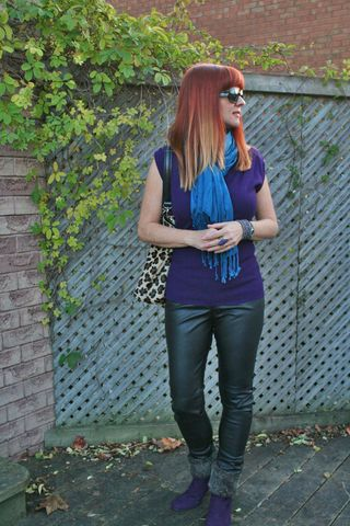 Leather jeggings